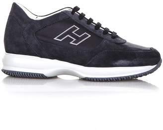 Hogan Interactive Night Blue Suede Sneakers