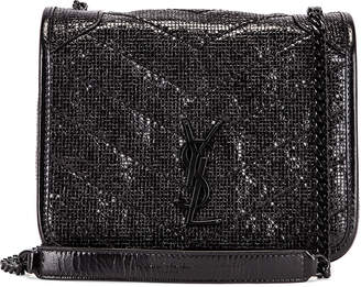 Saint Laurent Niki Chain Wallet Bag in Black & Black   FWRD