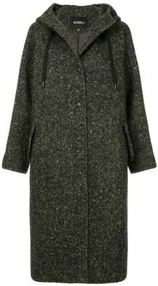 Goen.J hooded herringbone coat