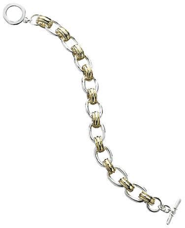 LAUREN RALPH LAUREN Two-Tone Chain-Link Bracelet