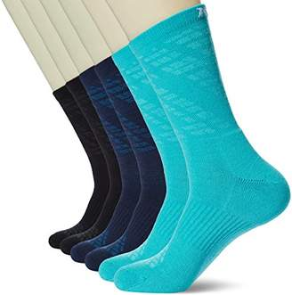 Kold Feet Men's Visual Athletic 6-Pack Performance Cushion Crew Hiking Sock