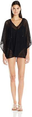 LaBlanca La Blanca Women's Beyond the Beach Hooded Poncho Cover up