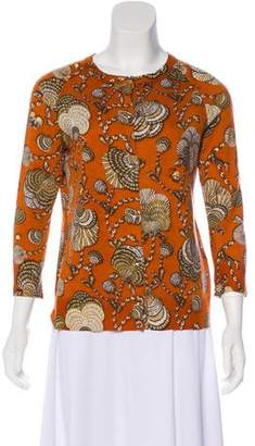 Gucci Cashmere Printed Cardigan