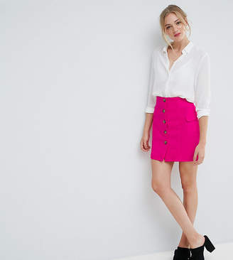 Asos Tall TALL Tailored Uber High Waist Mini Skirt With Button Through and Pocket Detail