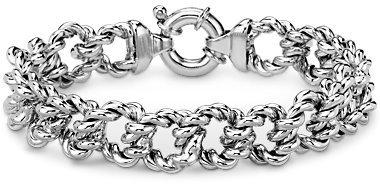 Twist Link Bracelet in Sterling Silver