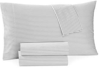 Charter Club Damask Designs Printed Pinstripe Extra Deep King 4-pc Sheet Set, 550 Thread Count, Created for Macy's Bedding