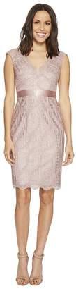 Adrianna Papell Cap Sleeve Lace Cocktail Dress Women's Dress