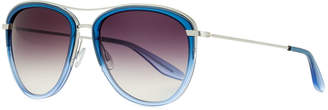 Barton Perreira Universal Fit Aviatress Aviator Sunglasses, Smolder/Blue Bayou