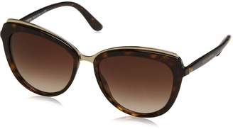 Dolce & Gabbana Women's Acetate Woman Cateye Sunglasses, Havana, 57.0 mm