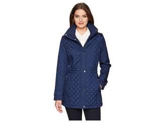 Calvin Klein Quilt Anorak with Hidden Hood Women's Coat
