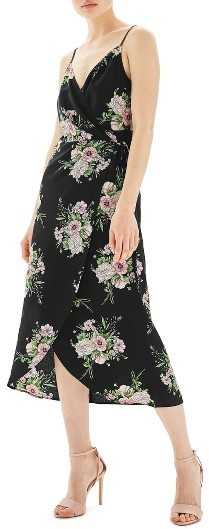 TopshopWomen's Topshop Floral Wrap Slipdress