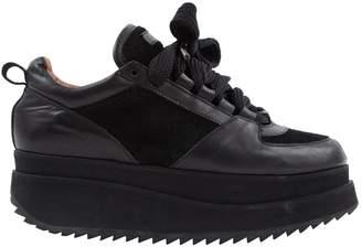 Ganni Black Leather Trainers