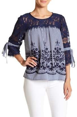 Hazel Embroidered Stripe Blouse