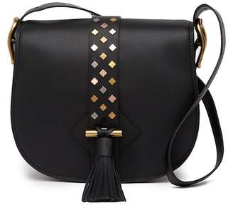 Anne Klein Large Leather Saddle Bag