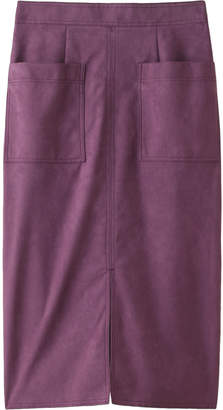 Allureville (アルアバイル) - アルアバイル ステッチワークカラースエードタイトスカート