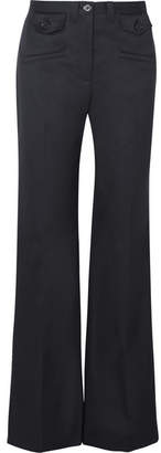 ALEXACHUNG Twill Wide-leg Pants - Navy