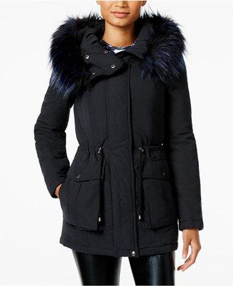 RACHEL Rachel Roy Faux-Fur-Trim Hooded Anorak, Only at Macy's $250 thestylecure.com