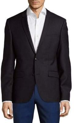HUGO BOSS Button-Front Virgin Wool Blazer