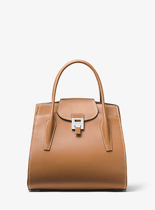 Michael Kors Bancroft Large Calf Leather Satchel