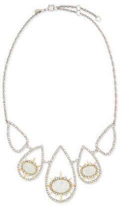 Alexis Bittar Crystal-Hoop Crackle-Glass Bib Necklace, Aqua Green $325 thestylecure.com