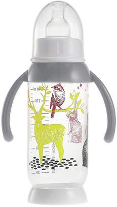 Beaba Unbreakable Bottle with Rounded Base and Removable Handles (240 ml Bunny Grey)