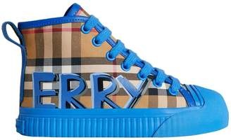 Burberry Graffiti Vintage Check High-top Sneakers
