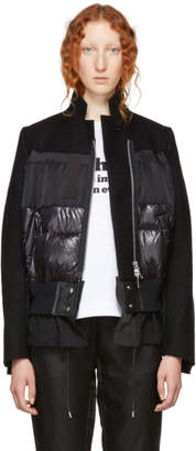 Sacai Black Panelled Bomber Jacket
