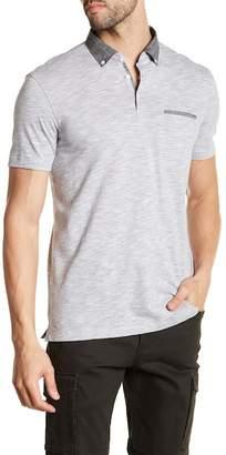 Good Man Brand Striped Button-Down Collar Polo Shirt