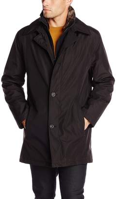 Andrew Marc Men's Chapman City Rain Jacket with Faux Fur Inner Collar