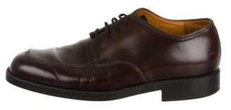 Tod's Round-Toe Leather Oxfords