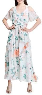 Calvin Klein Cold Shoulder Ruffle Dress