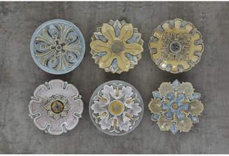 Ophelia & Co. Terracotta Plate 6 Piece Memorabilia Plaque Wall Decor Set