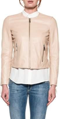 Dondup Sand Leather Jacket