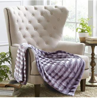 De Moocci Subtle Striped Faux Fur Throw Blanket