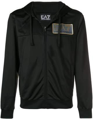 Emporio Armani Ea7 zipped logo hoodie