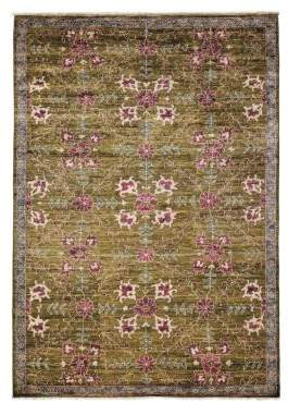 Solo Rugs Oushak Collection Spring Flowers Wool Rug