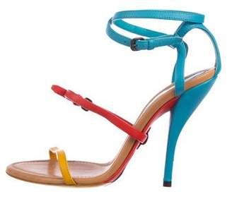 Bottega Veneta Buckle-Accented Ankle Strap Sandals