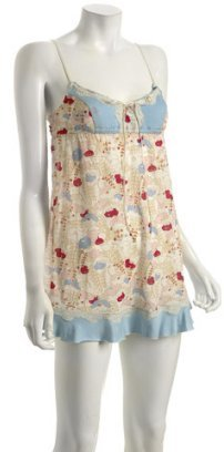 Eberjey periwinkle floral jersey 'Under The Sea' chemise