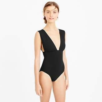 J.Crew Plunge V-neck one-piece swimsuit