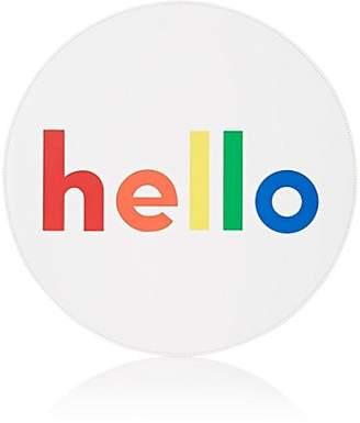 "Lisa Perry Reversible ""Hello"" Vinyl Placemat"