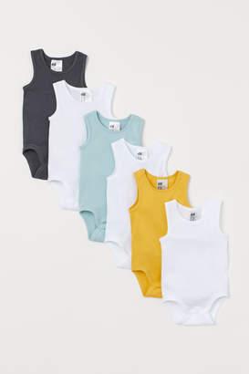 H&M 6-pack sleeveless bodysuits
