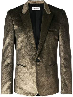 Saint Laurent metallic single-breasted blazer