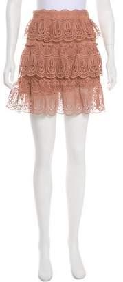 Self-Portrait Lace Mini Skirt