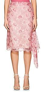 Calvin Klein Women's Floral Lace Draped Wrap Skirt - Cyclamen Size 38 It