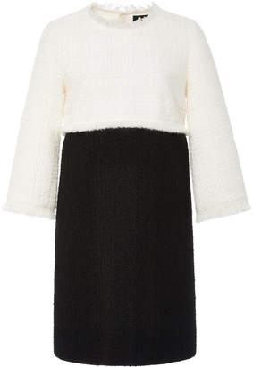 Paule Ka Tweed Gaze Colorblock Dress