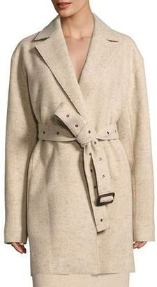 The Row Monire Belted Wool-Blend Jacket