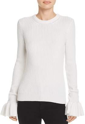 Derek Lam 10 Crosby Ruffle-Cuff Sweater