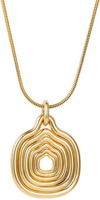 Fernando Jorge Thin Snake Chain w/ Cushioned Lines Pendant