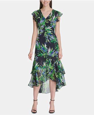 2a184ba5806 Tommy Hilfiger Floral Chiffon High-Low Maxi Dress