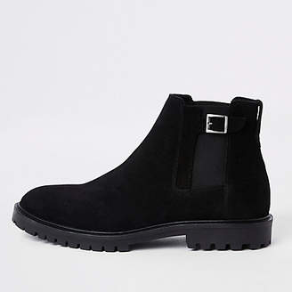 River Island Black suede sprayed toe chelsea boots